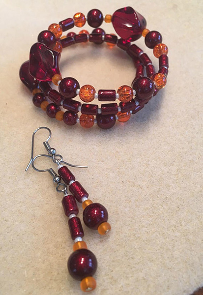 Bracelet and earring Set