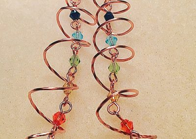 Chakra Style crystal earrings