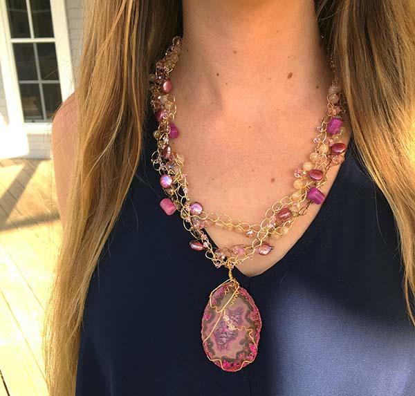 Custom piece built around a pendant