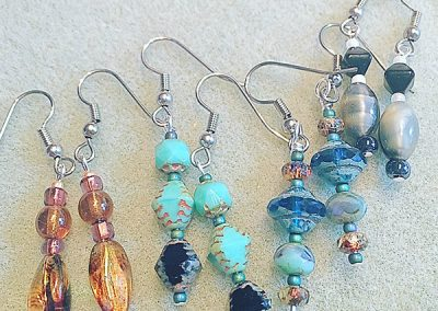 Fun handmade earrings