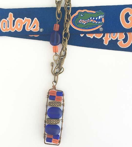 Gator custom pendant necklace