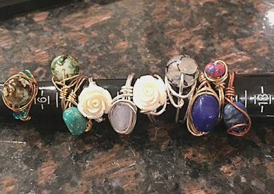 Wire wrapped rings Various