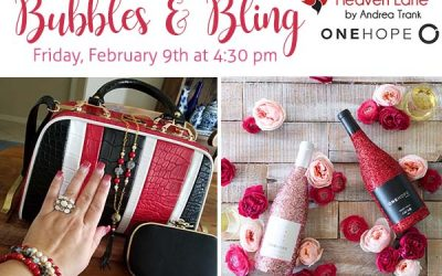 Bubbles and Bling For Valentine's Day