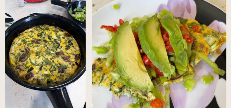 Easier Than Omelettes But Quick and Nutritious Vegetable Frittata
